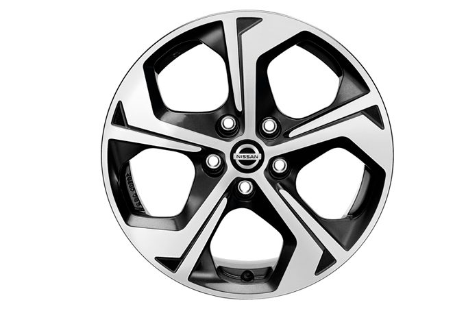"Nissan X-Trail - Alloy wheels - 17"" Flow alloy wheel black diamond cut"