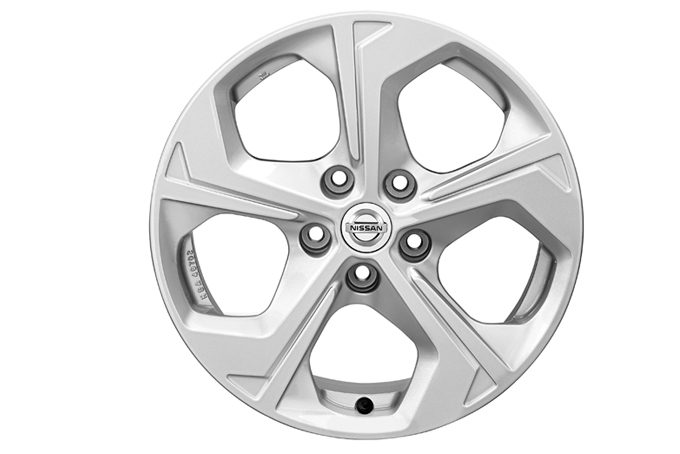 "Nissan X-Trail - Alloy wheels - CERCHI IN LEGA FLOW DA 17"" CON BORCHIE CENTRALI"
