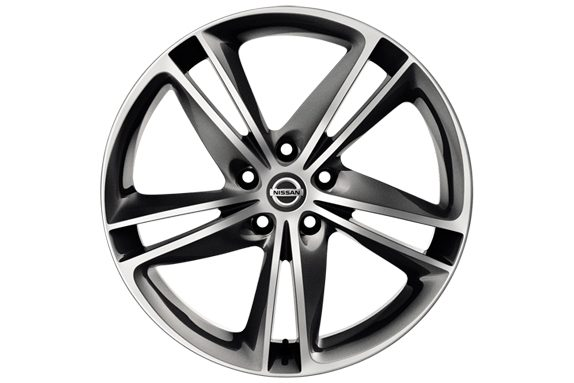 Nissan X-Trail - 19'' Ibiscus alloy wheel diamond cut dark grey