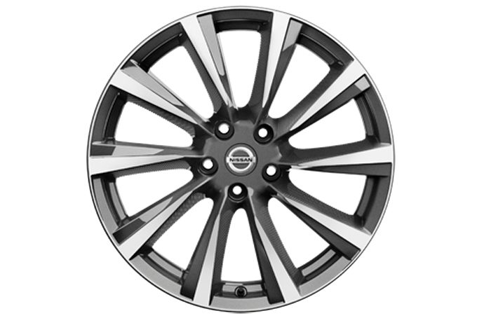 "Nissan X-Trail - Alloy wheels - 19"" wind alloy wheel dark grey diamond cut"