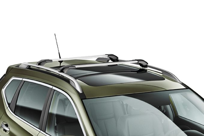Nissan X-Trail - Cross bars for roof railing