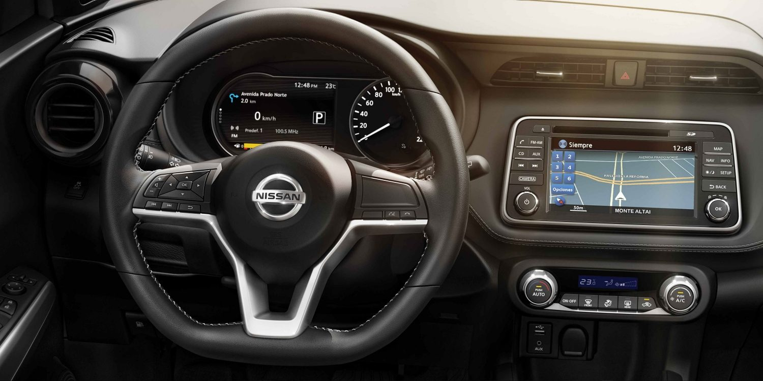 leather Nissan Kicks interior profile