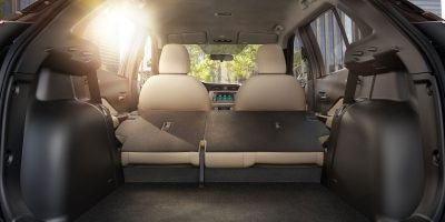Nissan Kicks rear cargo area with passenger seats upright
