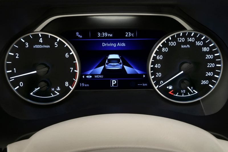 Pantalla Advanced Drive-Assist del Nissan Murano