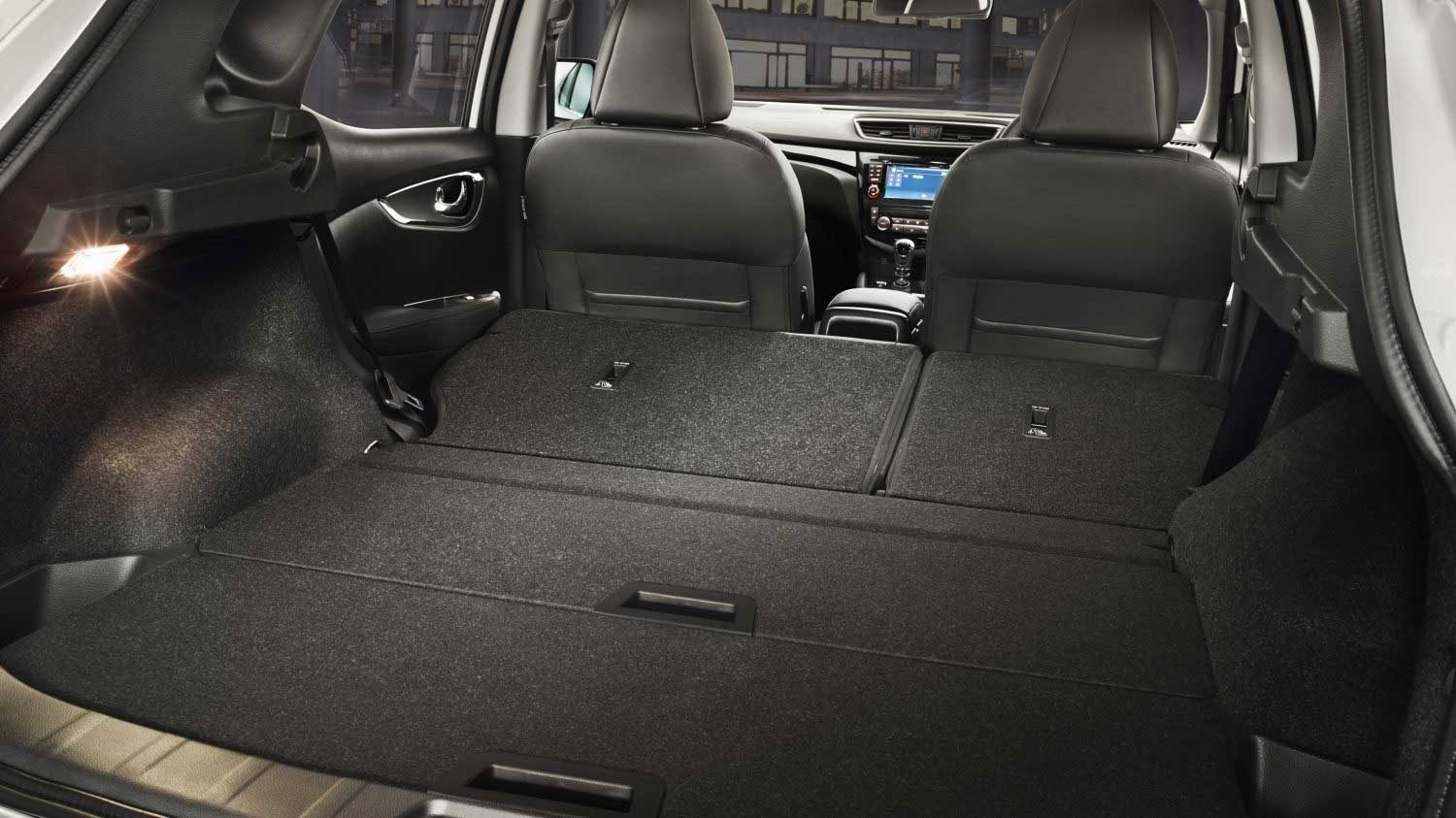 Cargo area shown with seats folded down
