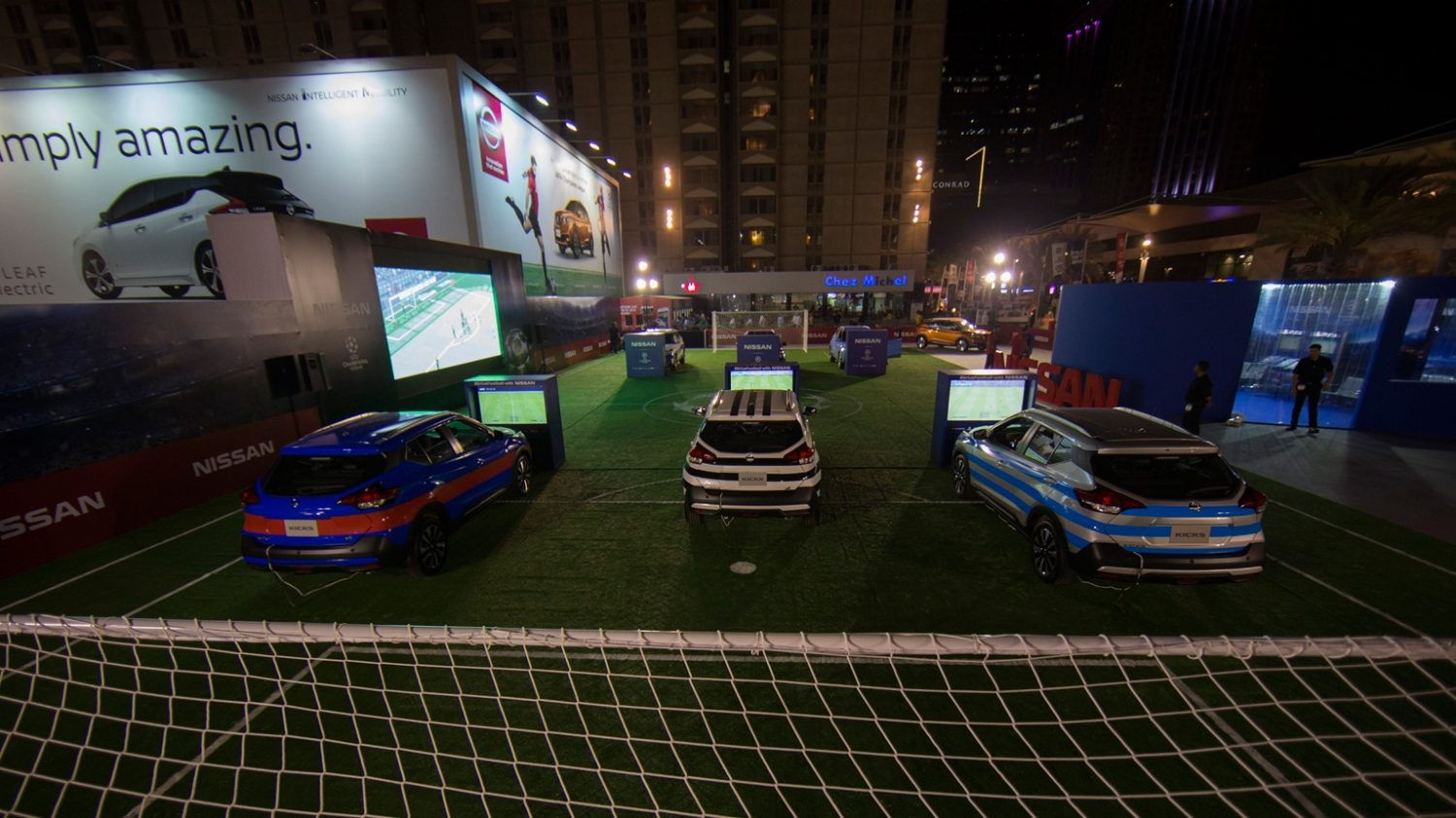 Nissan Cars Face off in the Ultimate Game of Auto Football at Dubai International Motor Show