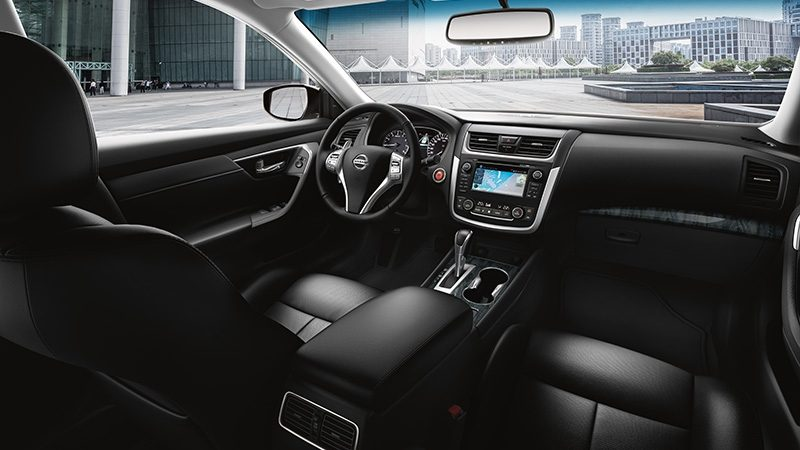 Nissan Altima interior showing dash and seats