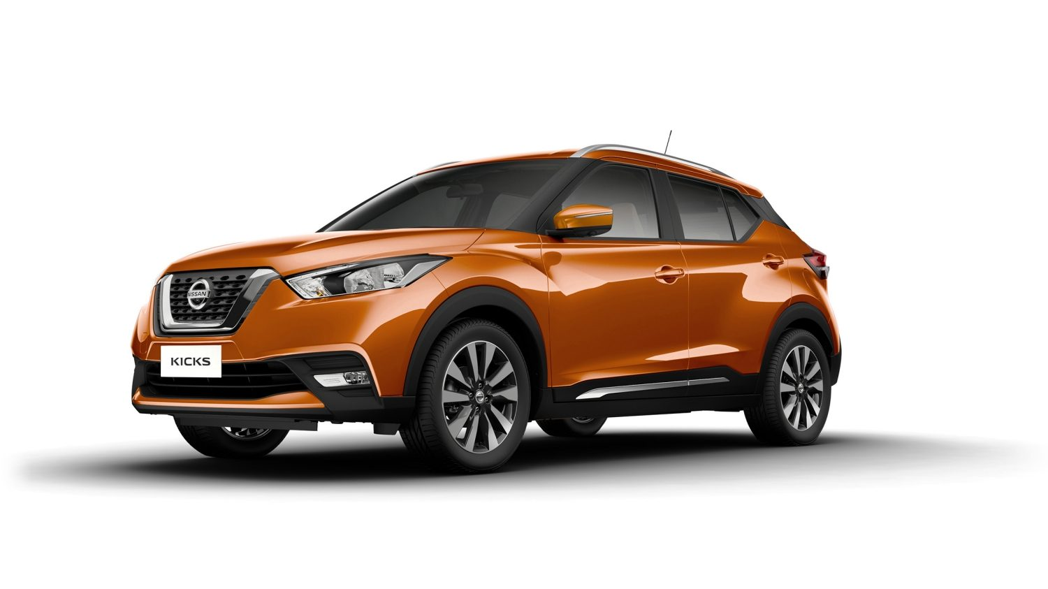 White Nissan Kicks exterior profile