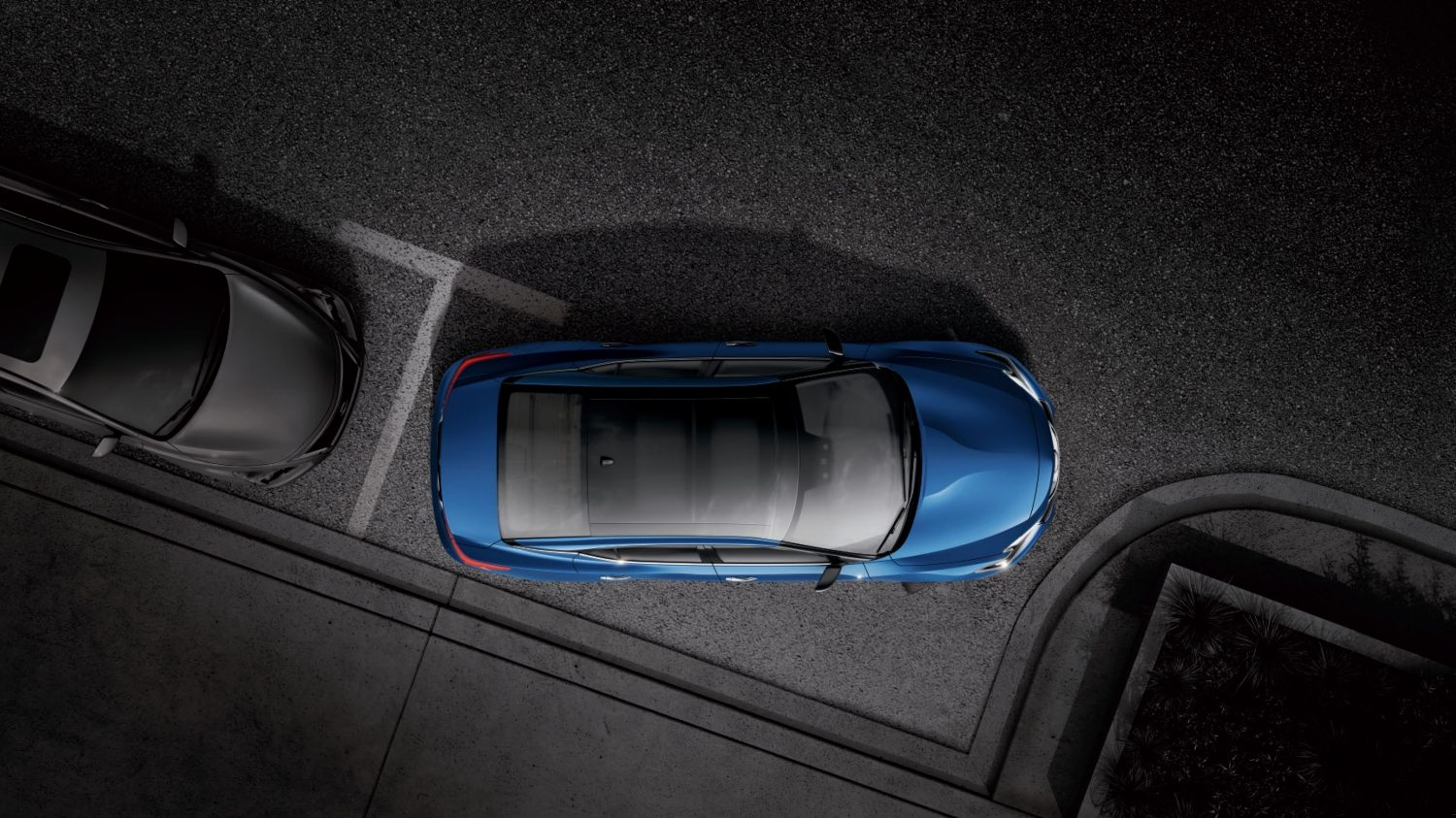 Overhead Shot of Vehicle Parallel Parking