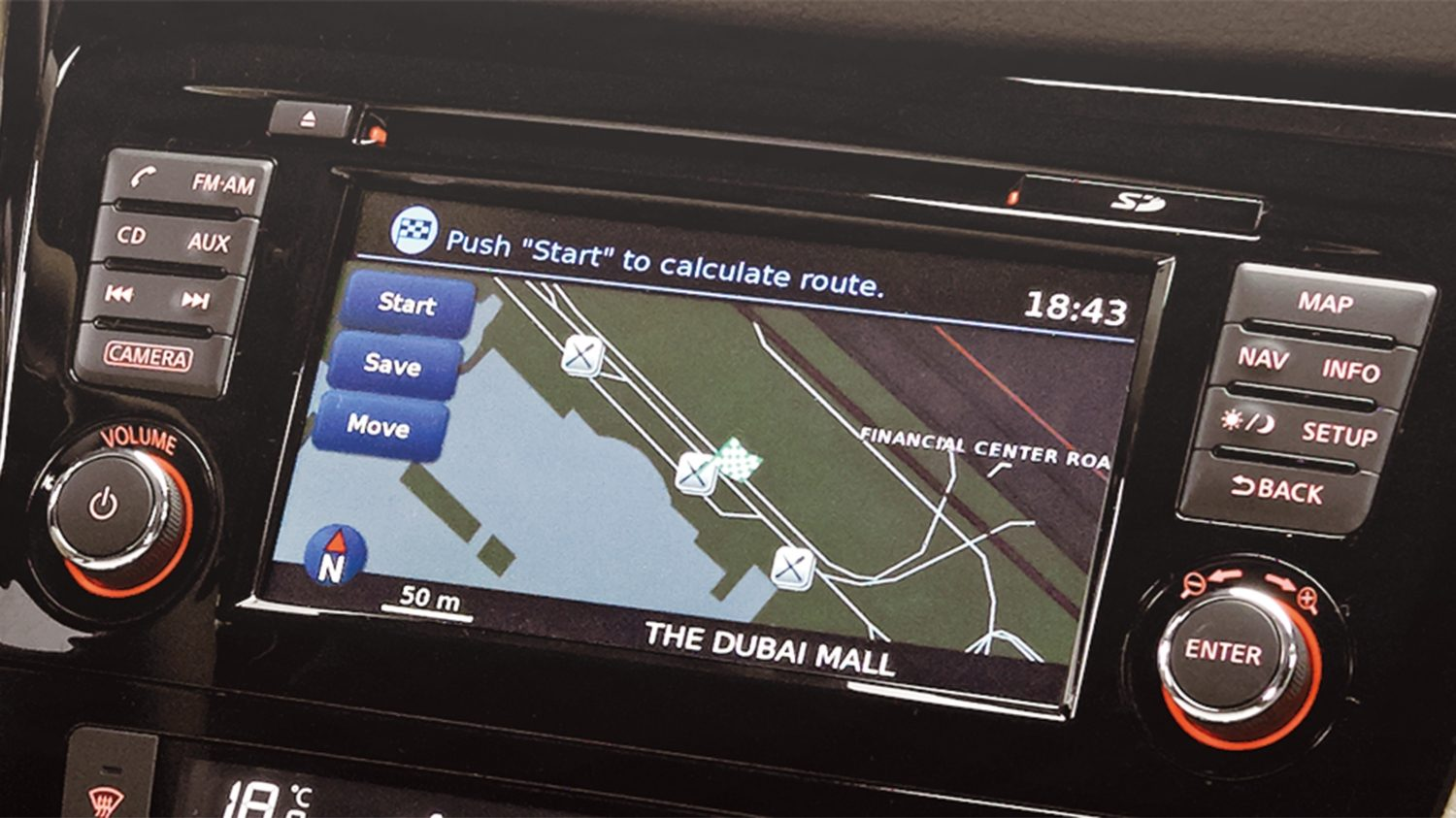 Navigation screen