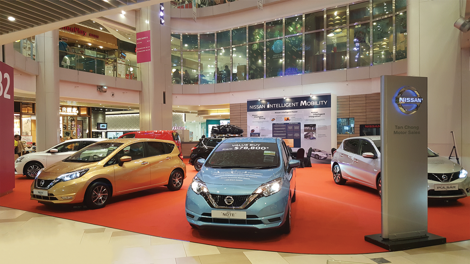 Nissan Intelligent Mobility and Nissan vehicles at Bedok Mall B2 Atrium
