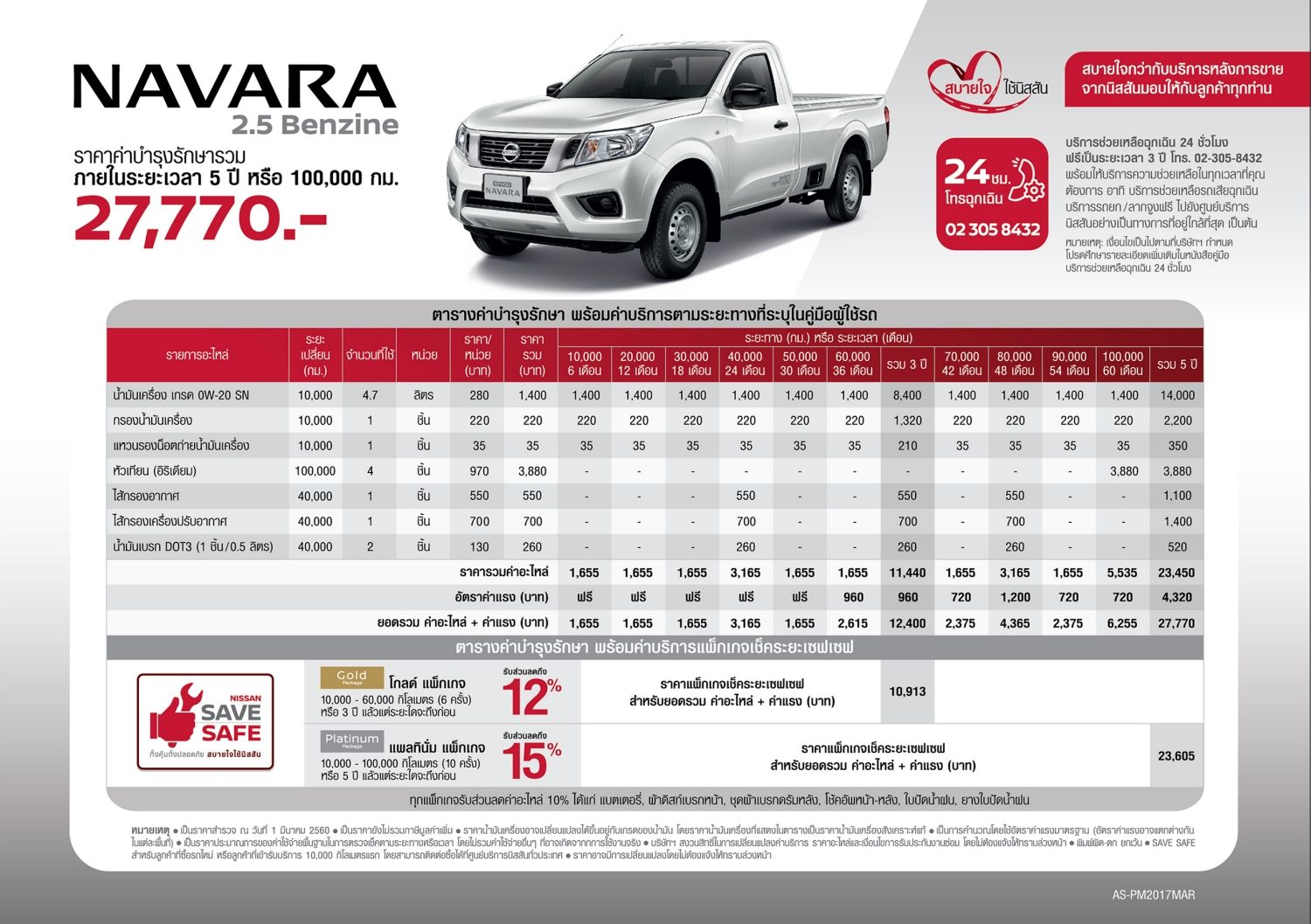 Navara Maintenance Cost