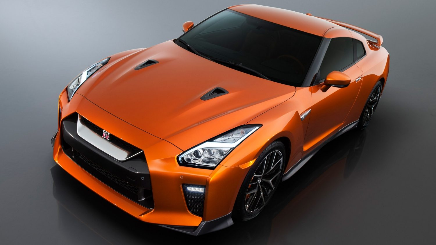 GTR in Orange top left view