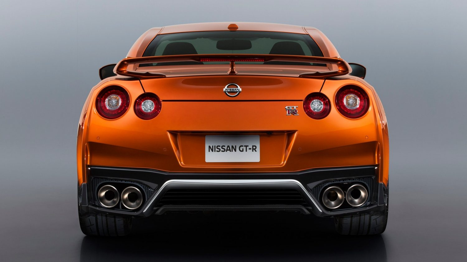 GTR in Orange from the back