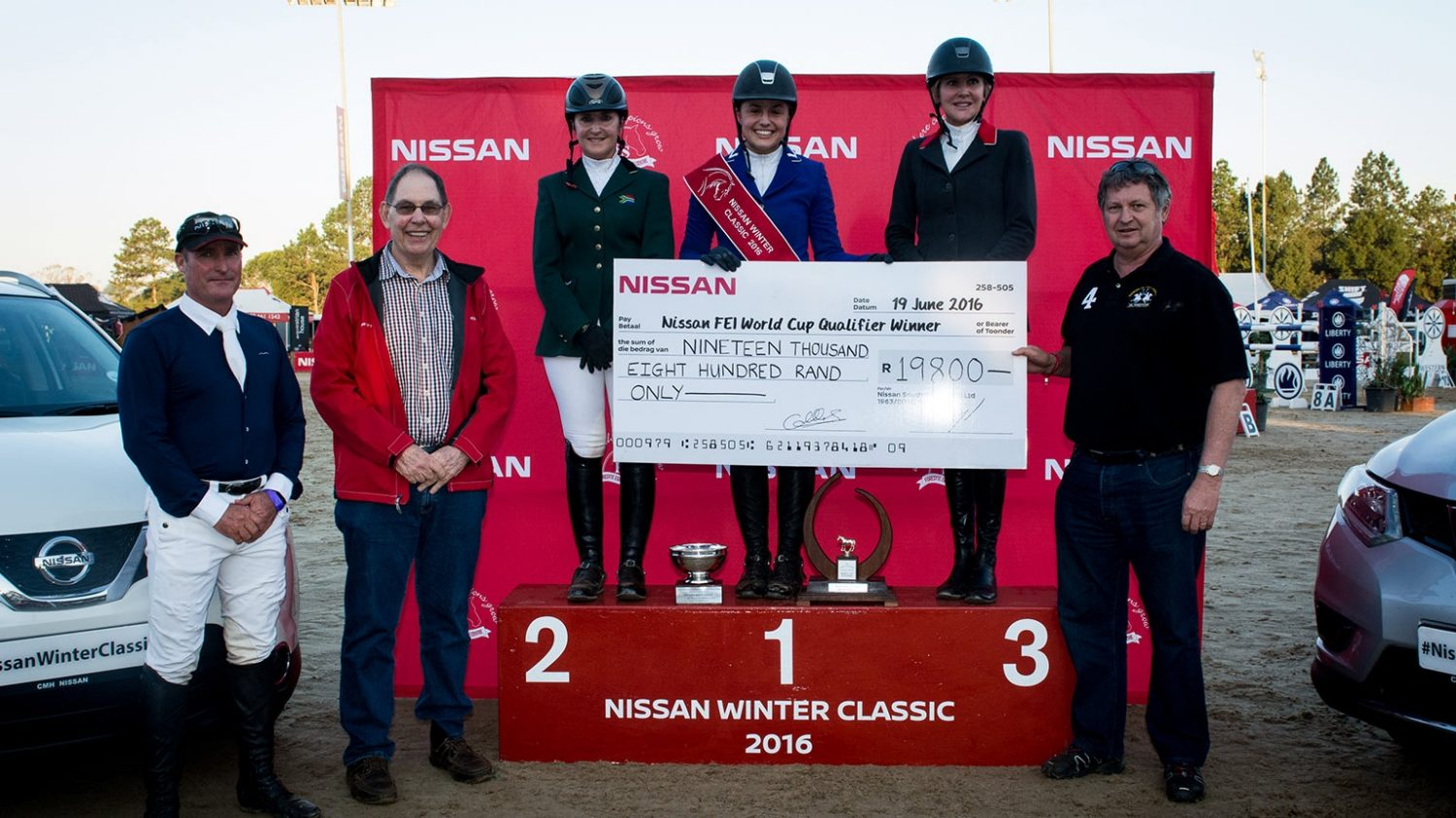 The winners of the Nissan Winter Classic