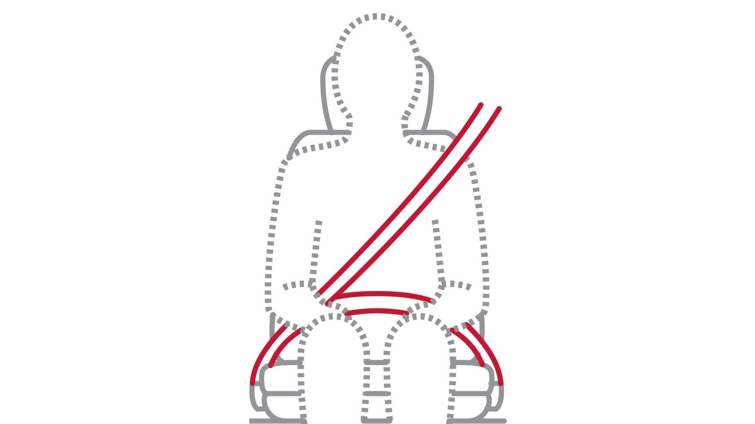Nissan GT-R seat belt pretensioner illustration