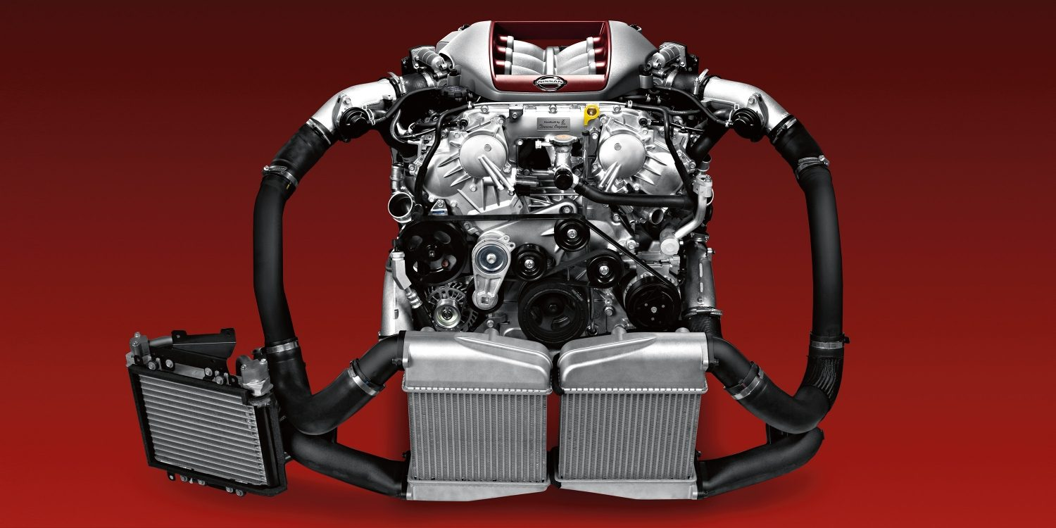 Nissan GT-R VR38 Twin Turbo Engine