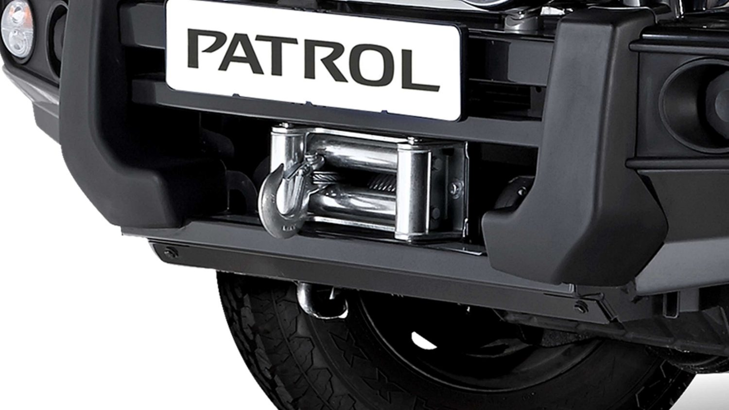Replacement bumper with Warn Winch